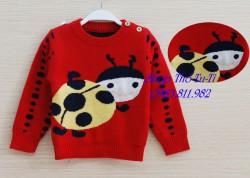 2292 . Áo len Hàn quốc lông cừu hình ong màu đỏ- 589als