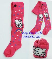 5043.   Quần len Kitty màu hồng in hình sao -366qlx