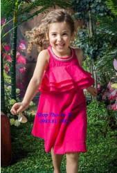 3347. Váy DKNY bèo ngực hở lưng màu hồng-896vas