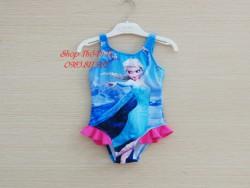 4155.Bộ bơi liền size trung màu xanh hình công chúa- 717bps