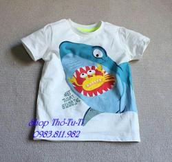 2366. Áo phông H&M xuất xịn cộc tay hình cá-977aps