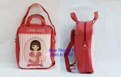 7092.  Túi xách HQ Little lady hình BG cỡ to màu hồng-996bls