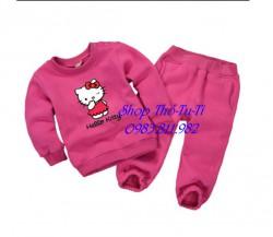 3095. Bộ nỉ bông Momcare Minizone màu hồng sen hình kity-323bpd