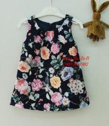 3164. Váy gấm Minicrew hoa hồng màu tím than-121vad