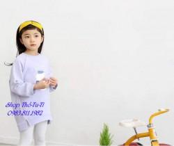 3257. Váy nỉ Hàn quốc tím hình bình sữa vạt trước thấp-312vad