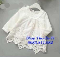 3032. Váy thô monsoon trắng chân ren( 033) - 551vag