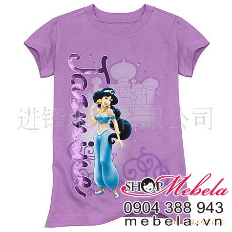AG01 Áo phông in hình công chúa hiệu Disney chất mềm mát cho bé 1-3t