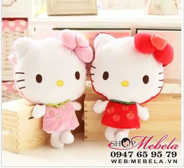 T02 Túi Hello Kitty táo đỏ, dâu hồng xinh xắn cho bé
