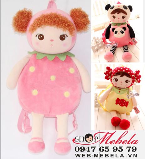 BL17 Balo Metoo hình bé gấu trúc, bé dâu tây, bé kẹo xinh xắn cho bé chất cực đẹp