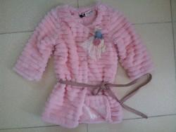 AKG07 Áo khoác lông kiểu xếp tầng cho bé gái phong cách Hàn Quốc thương hiệu Thekidshow 3-8 tuổi