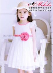 V92 Váy ren trắng công chúa tay cánh tiên xinh xắn cho bé 2,5 đến 6 tuổi