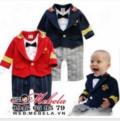 BD520 Body áo liền quần vest giả 2 áo cho bé 8,10,12,13kg (8 tháng,1,2,3 tuổi)