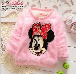 AG521 Áo Mickey Mini lót lông ấm mềm cho bé 8 đến16kg (7tháng đến 3,5 tuổi)