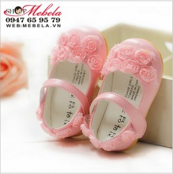 G72 Giầy công chúa gắn hoa cực xinh cho bé 3-12 tháng (chân dài 10,5 đến 12,5 cm)