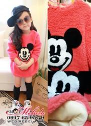 V572 Áo váy lông cừu Mickey 2 lớp cực dày ấm 12 đến 20kg (2 đến 5tuổi)