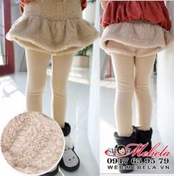 QG512 Quần liền váy chất nỉ lót lông ấm mềm cho bé 13kg trở lên