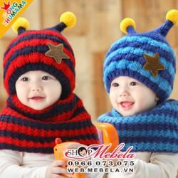 M514 Bộ mũ và khăn ống con ong 1 đến 4 tuổi