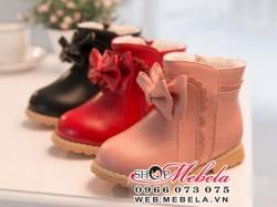 B22 Boot  gắn nơ size 21 đến 30 (1 đến 5 tuổi)