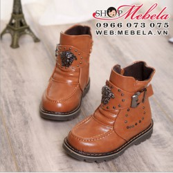 B26 Boot nâu kéo khóa lót lông size 26 đến 30 (2,5 đến 5 tuổi)