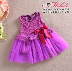 V86 Váy ren tím công chúa cho bé khoảng 2 đến 5 tuổi