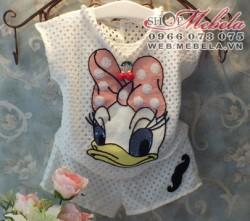 BG83 - Bộ quần áo vịt Donald Daisy lưới siêu mát 1-4 tuổi