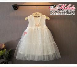 V302 - Váy ren trắng công chúa mát nhẹ 2-7 tuổi