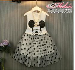 V299 Váy Mickey Chanel 2,5 đến 7 tuổi, chân váy rời