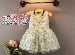 V323 Váy voan hoa cho bé gái 18th -  4 tuổi