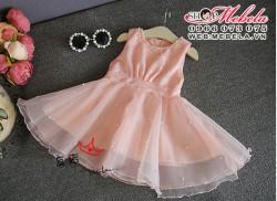 V353 Váy công chúa hồng cho bé gái 2,5 đến 7 tuổi