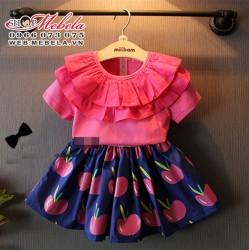 V373 Bộ áo kèm chân váy seri cho bé 2 đến 6 tuổi