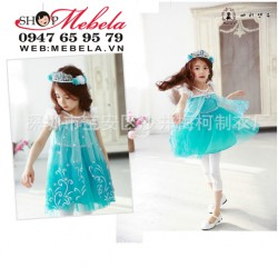 V422 - Váy công chúa, nữ hoàng băng giá  Elsa  cho bé 6,7t