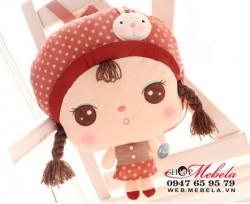 BL30 -  Ba lô Metoo hình búp bê Angela  xinh xắn cho bé (38x28cm)