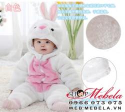 BD528 - body thỏ trắng dày 3 lớp cho bé 7-15kg (3th-3t)