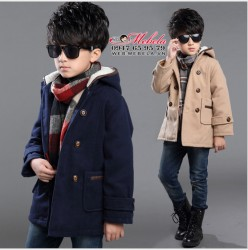 KT99 - Áo khoác dạ phong cách Hàn Quốc cho bé 5 đến 10 tuổi