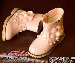 B38 - Boot da lót lông đính hạt trai sz 29