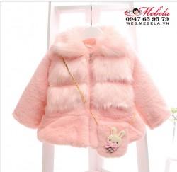 KG192 - Áo khoác lông 3 lớp dày ấm kèm túi cho bé 11-16kg(18th-3,5t)