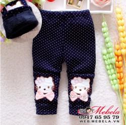 QG536 Quần kitty lót lông cho bé gái
