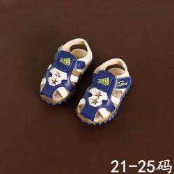XD84 Sandal rọ 2 sao xanh trắng cho bé 1-3tuổi size 21-25