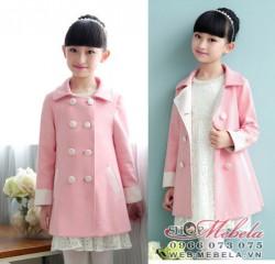 KG288 Áo vest dạ hồng cho bé gái 20-45KG, 5-13T, SZ 120-160
