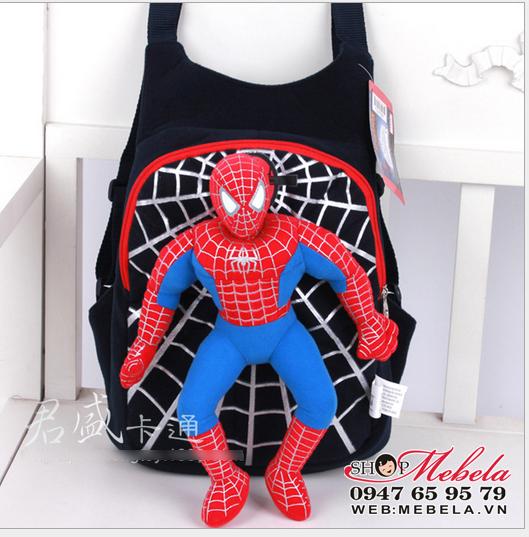 BL21 Balo siêu nhân người nhện cho bé 27x22cm