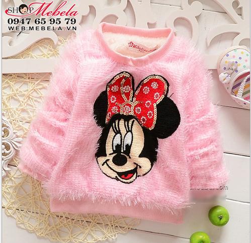 AG521 Áo Mickey Mini lót lông ấm mềm cho bé 9 ,11,13,15kg (9tháng,1,2,3 tuổi)