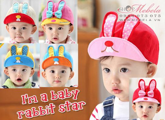 M15 Mũ thỏ xinh 1-4 tuổi