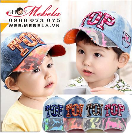 M23 - Mũ TOP chất bò mềm cho bé 4-8 tuổi