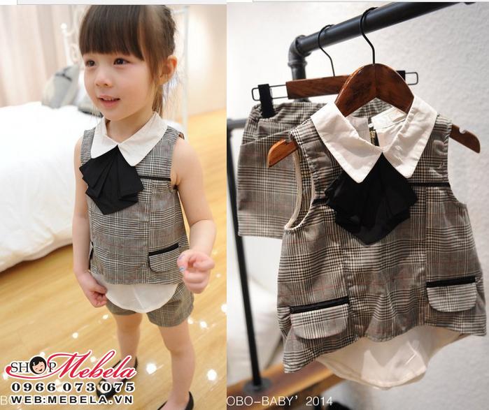BG59 - Bộ quần áo kẻ 2-5 tuổi
