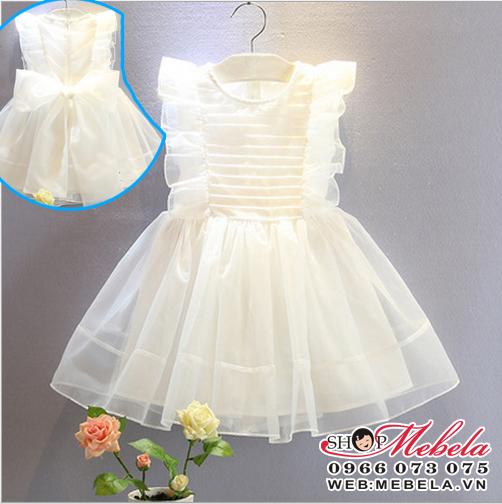 V333 Váy voan trắng công chúa cho bé gái 2-6 tuổi