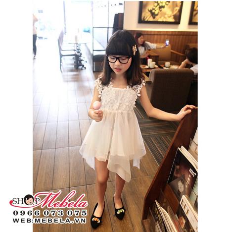 V340 Váy công chúa ren hoa cho bé gái 2 - 5 tuổi