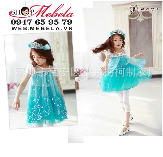 V422 - Váy công chúa, nữ hoàng băng giá  Elsa  cho bé 2-7 tuoi