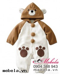 BD504 - body gấu nâu lông 1 lớp cho bé 5-10kg