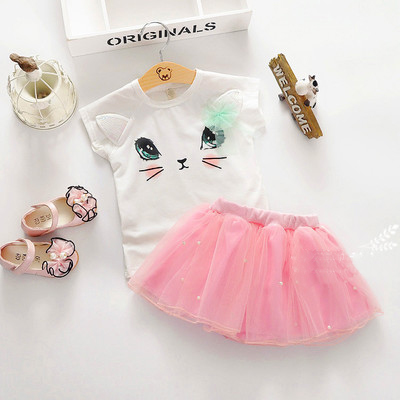V2038 - Váy mèo chân ren hồng xinh xắn cho bé 2,5t - 5t (13kg - 20kg )