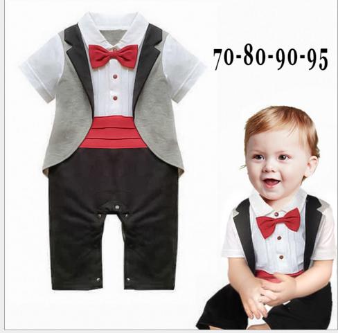 BD66 - Bộ body dự tiệc áo liền quần giả gile cho bé 6th - 24th (6kg - 12kg)